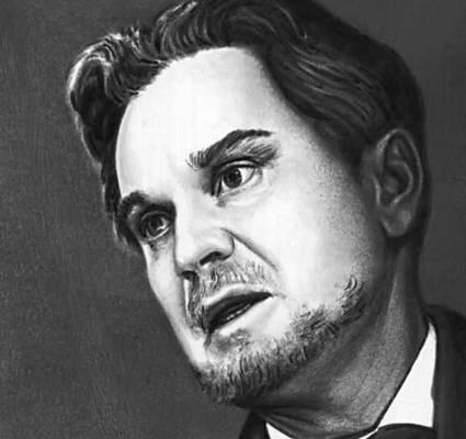 Н. О. Гриценко в роли князя Мышкина.  Идиот.  Иллюстрация к статье на